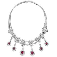 Magnificent burmese ruby and diamond necklace 34