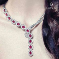 Magnificent burmese ruby and diamond necklace 9