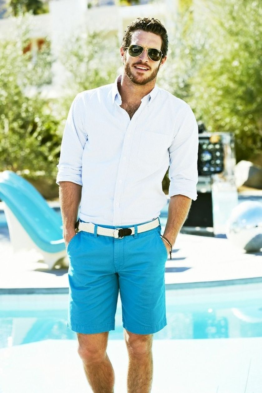 Mens summer casual short outfits worth to copy 11