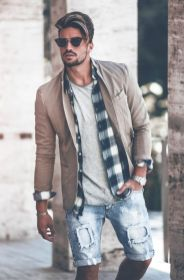 Mens summer casual short outfits worth to copy 17