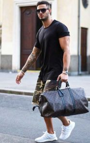 Mens summer casual short outfits worth to copy 23