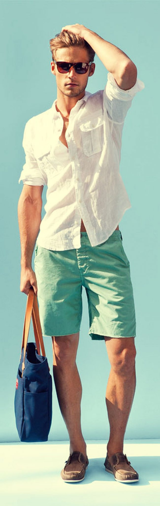 Mens summer casual short outfits worth to copy 24