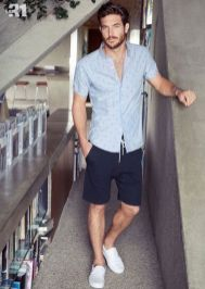 Mens summer casual short outfits worth to copy 30
