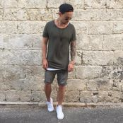 Mens summer casual short outfits worth to copy 42