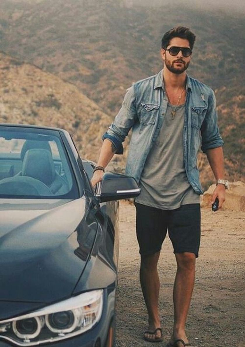 Mens summer casual short outfits worth to copy 45