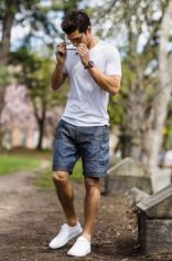 Mens summer casual short outfits worth to copy 60