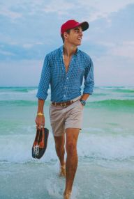 Mens summer casual short outfits worth to copy 62