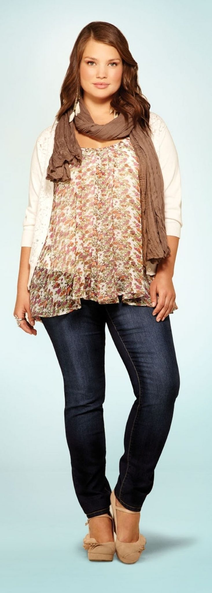Plus size boho outfit style 1