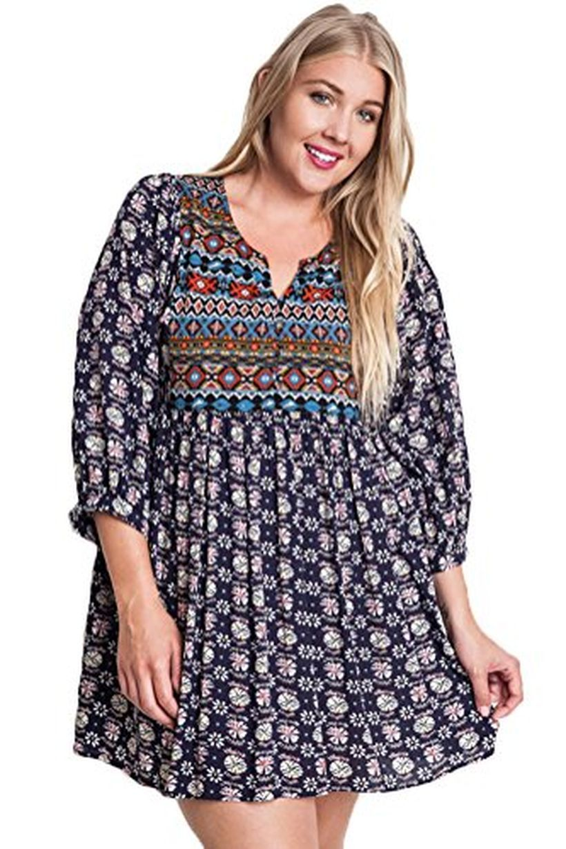 Plus size boho outfit style 14