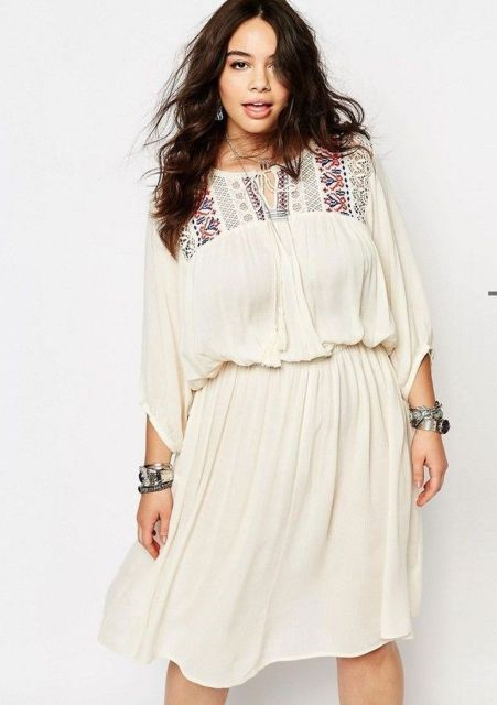 Plus size boho outfit style 17