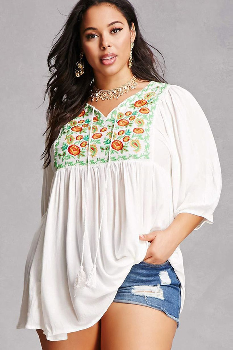 Plus size boho outfit style 26
