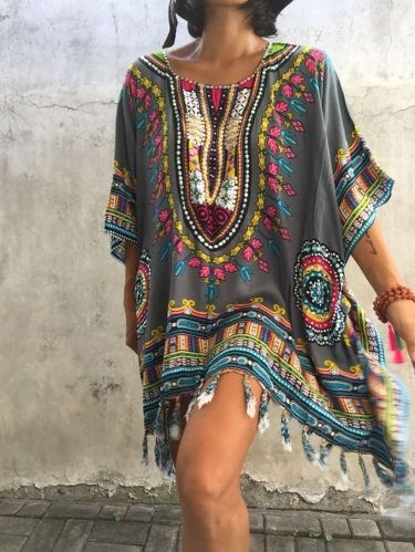 Plus size boho outfit style 4