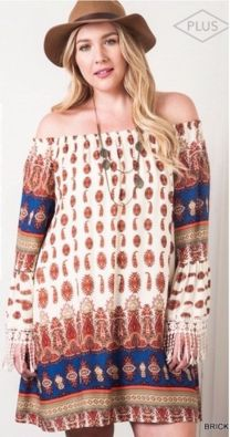 Plus size boho outfit style 50