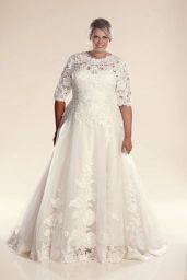 Plus size wedding dresses with sleeves 12