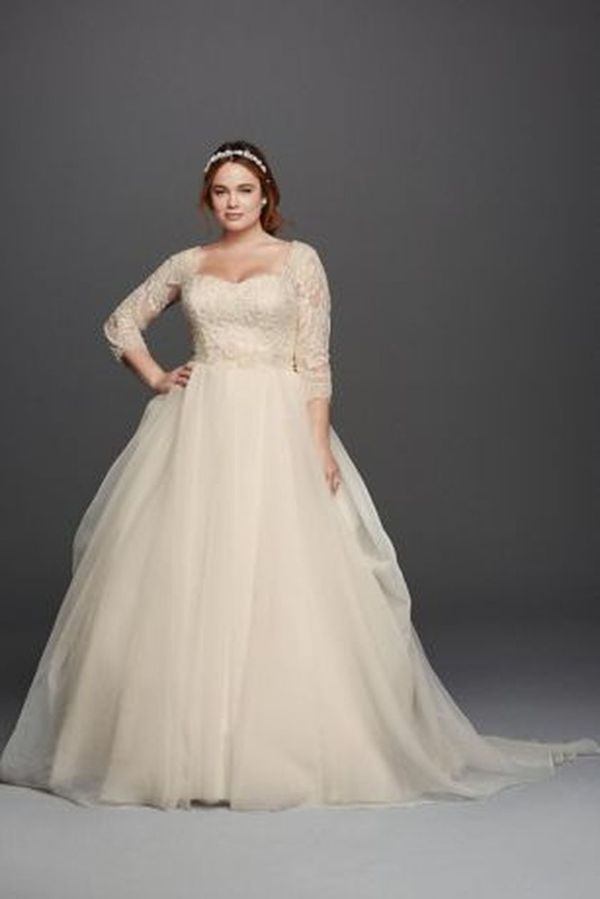 Plus size wedding dresses with sleeves 6