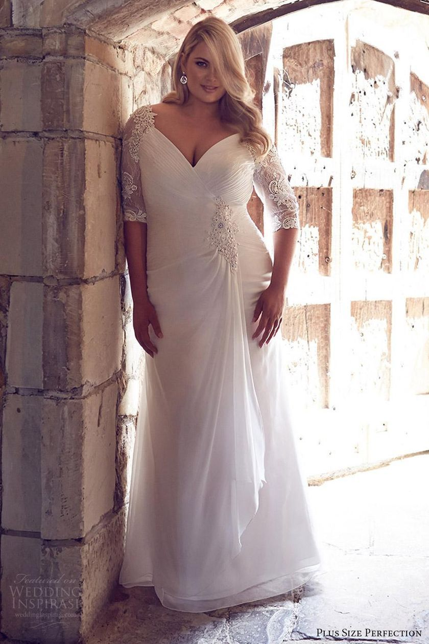 Plus size wedding dresses with sleeves 4