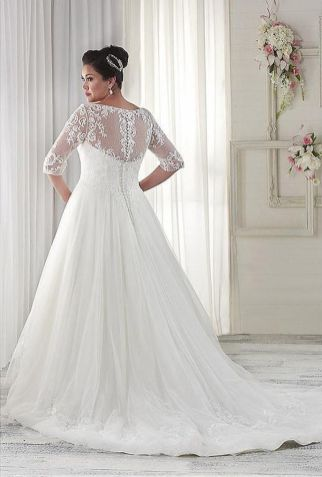 Plus size wedding dresses with sleeves 2
