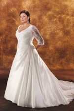 Plus size wedding dresses with sleeves 34