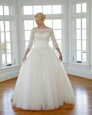 Plus size wedding dresses with sleeves 31