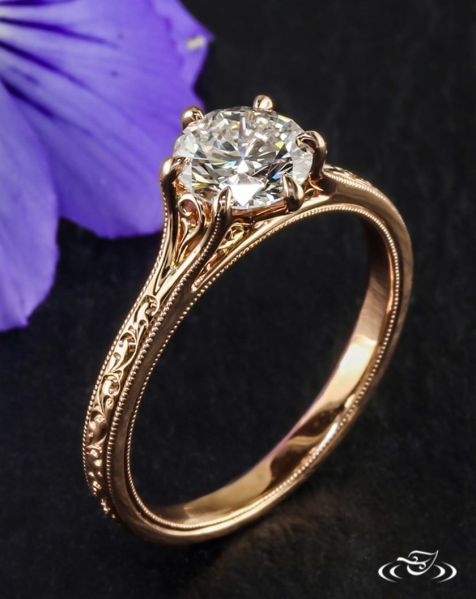 Rose gold solitaire ring for wedding 11