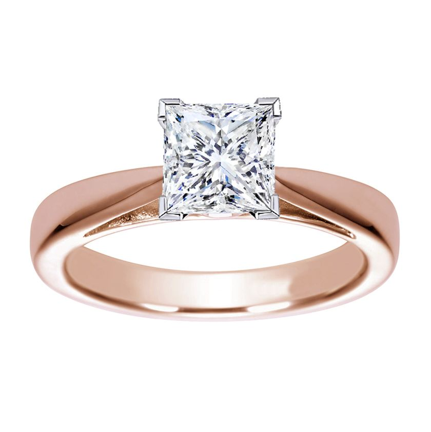 Rose gold solitaire ring for wedding 13