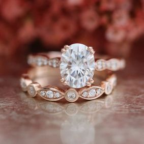 Rose gold solitaire ring for wedding 15