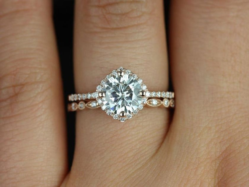 Rose gold solitaire ring for wedding 22