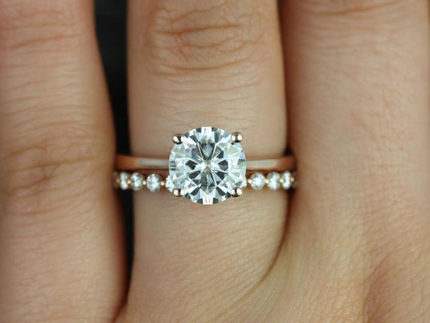 Rose gold solitaire ring for wedding 26