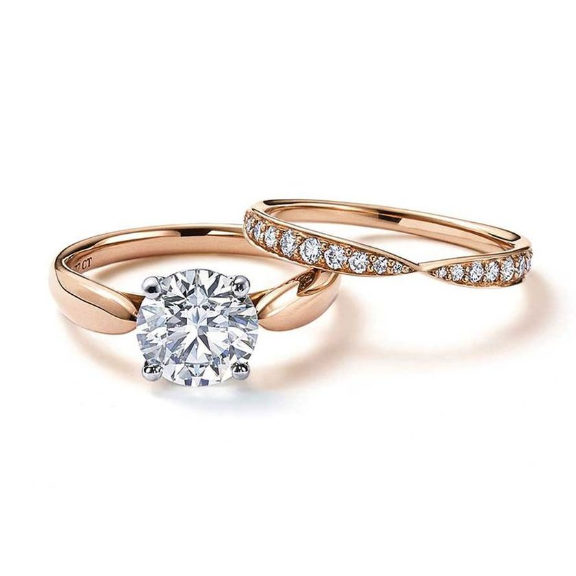 Rose gold solitaire ring for wedding 35