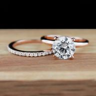Rose gold solitaire ring for wedding 36