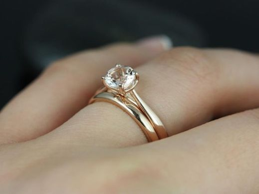 Rose gold solitaire ring for wedding 37