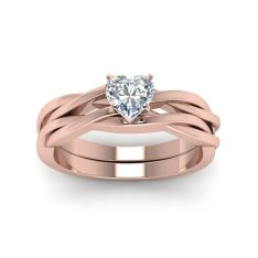 Rose gold solitaire ring for wedding 38