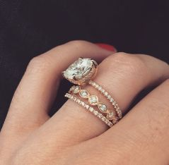 Rose gold solitaire ring for wedding 39
