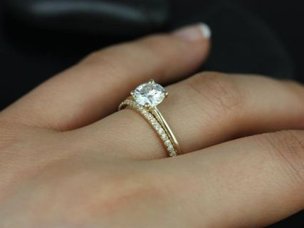 Rose gold solitaire ring for wedding 4