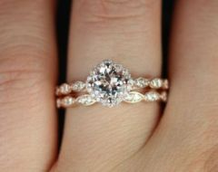 Rose gold solitaire ring for wedding 43