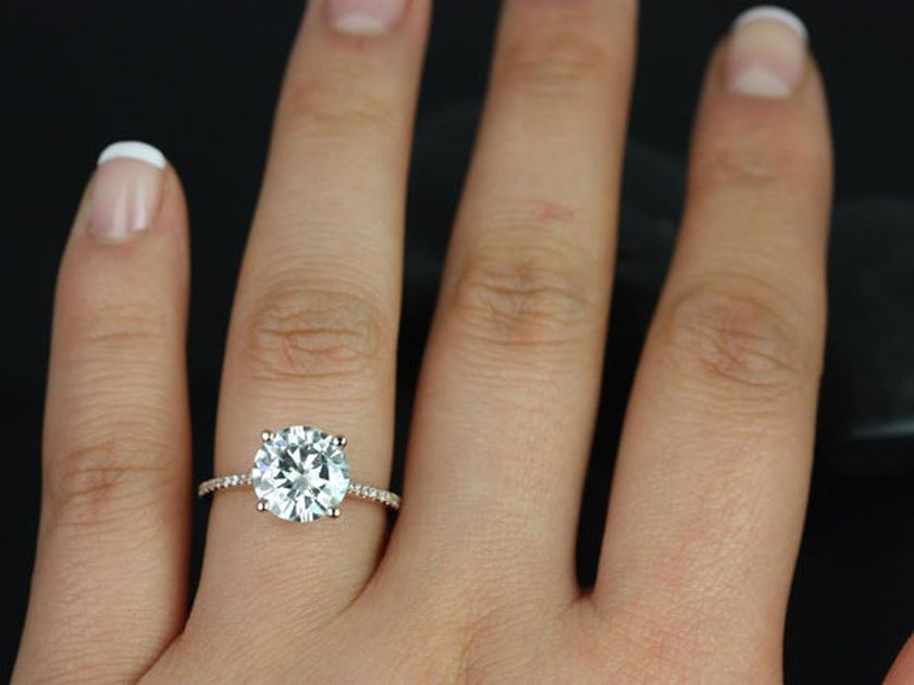 Rose gold solitaire ring for wedding 46