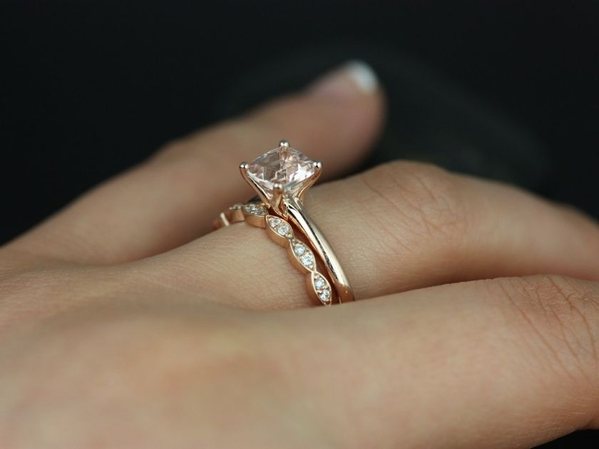 Rose gold solitaire ring for wedding 49