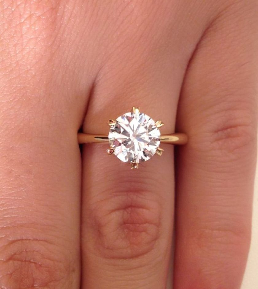 Rose gold solitaire ring for wedding 5