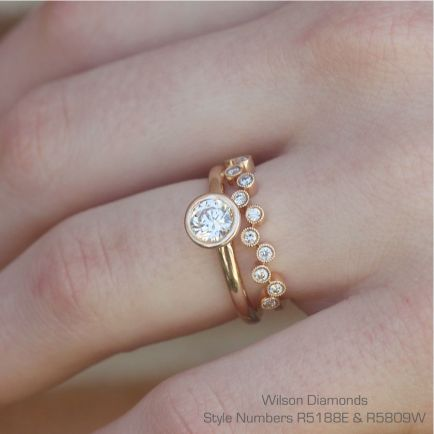 Rose gold solitaire ring for wedding 51
