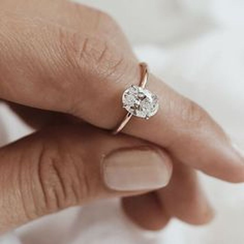 Rose gold solitaire ring for wedding 54