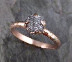 Rose gold solitaire ring for wedding 55
