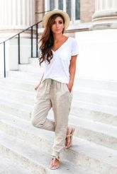 Sexy soft v neck tees women outfit style 13