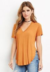 Sexy soft v neck tees women outfit style 23