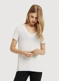 Sexy soft v neck tees women outfit style 38
