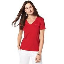 Sexy soft v neck tees women outfit style 55