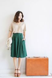 Sexy soft v neck tees women outfit style 62