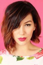 Short asymmetrical bobs hairstyle haircut 24
