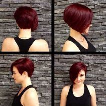 Short asymmetrical bobs hairstyle haircut 31
