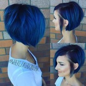 Short asymmetrical bobs hairstyle haircut 73
