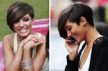 Short asymmetrical bobs hairstyle haircut 74